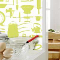 пример красивой поделки для интерьера кухни фото