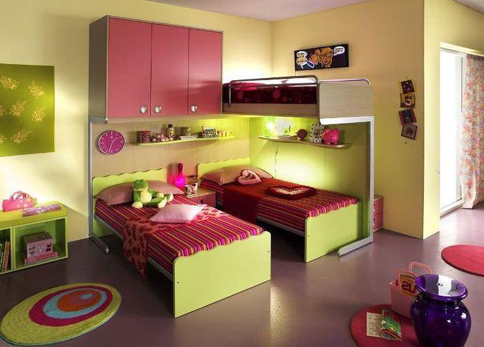 Дизайн комнаты для разновозрастных детей