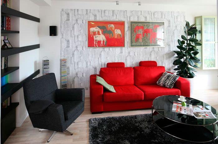 Картины в декорировании стену в гостиной