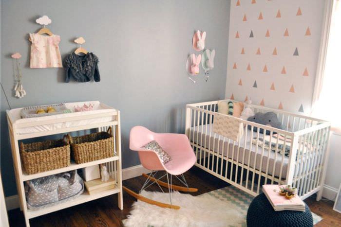 Убранство детской комнаты для новорожденного