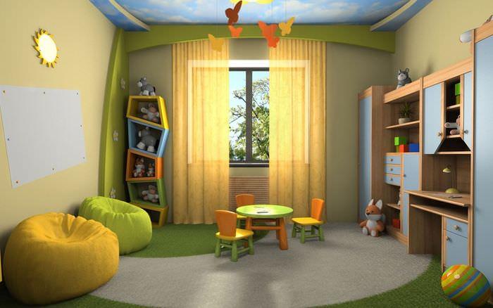 Дизайнерская мебель в детской комнате