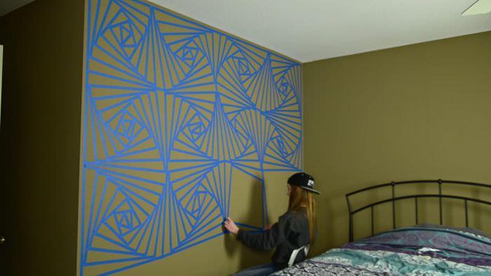 Оформление стены жилой комнаты своими руками