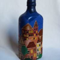 Декор бутылки коньяка для подарка