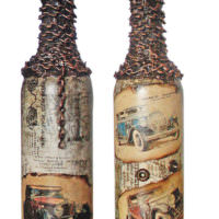 Декор винной бутылки в подарок мужчине