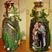 Бутылка в подарок для рыбака