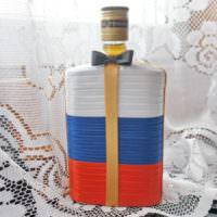 Декор бутылки в виде флага