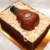 Коньяк и торт в подарок мужчине