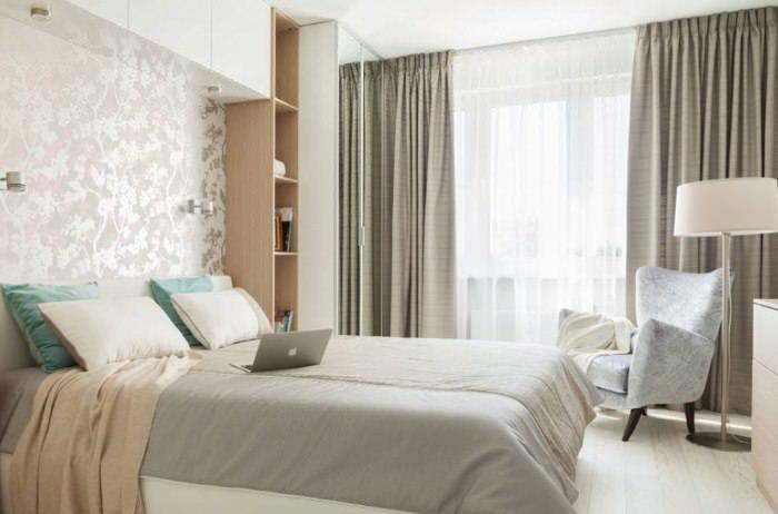Природное освещение в дизайне спальни