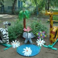 Садовые скульптуры из автомобильных покрышек