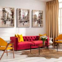 Картины как декорирующие элементы дизайна