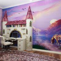 Сказочный интерьер в оформлении детской комнаты