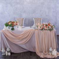 Тканевый декор свадебного стола своими руками