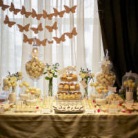 Сладкий стол для проведения свадебного торжества