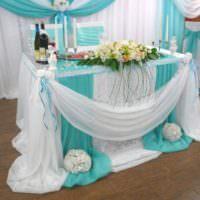 Декорирование стола жениха и невесты своими руками