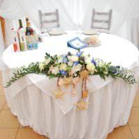 Оформление круглого свадебного стола