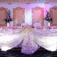 Подсветка свадебного стола своими руками