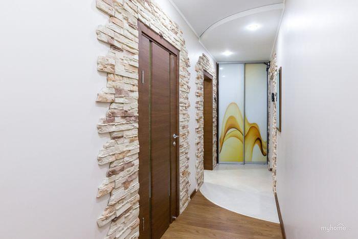 картинки коридора декоративным камнем фото время признавал