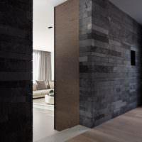 Гранит в дизайне стен прихожей