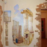 Античные мотивы в декорировании стен прихожей