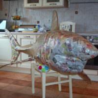 Изготовление декоративной рыбы из папье-маше своими руками