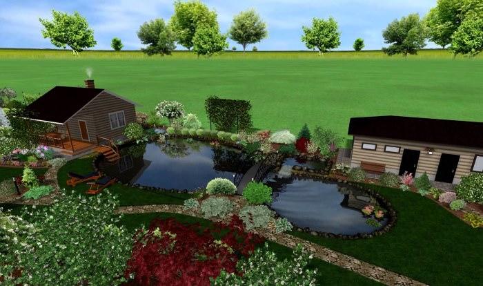 Проект ландшафтного дизайна узкого участка