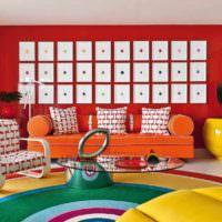 вариант яркого дизайна комнаты в стиле поп арт картинка
