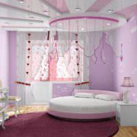 пример необычного дизайна спальни для девочки фото