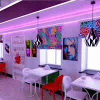 идея светлого интерьера дома в стиле поп арт фото