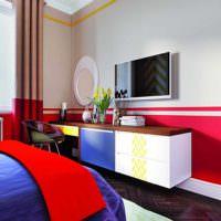 идея красивого интерьера комнаты в стиле поп арт картинка