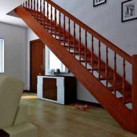 пример необычного стиля лестницы в честном доме картинка