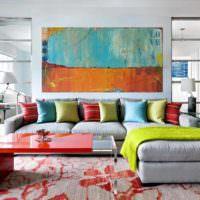 пример красивого интерьера квартиры в стиле поп арт картинка