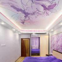 вариант красивого дизайна спальни фото