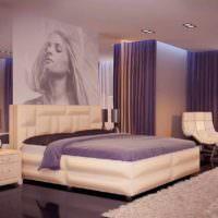 вариант светлого интерьера спальни картинка