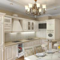 пример яркого проекта стиля кухни картинка