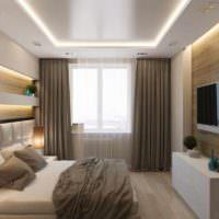 пример яркого проекта стиля спальни фото