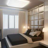 вариант необычного проекта дизайна спальной комнаты фото
