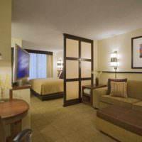 пример красивого стиля спальни 20 метров фото