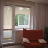 вариант красивого интерьера окна на кухне картинка