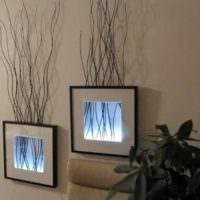 идея светлой поделки для интерьера квартиры фото