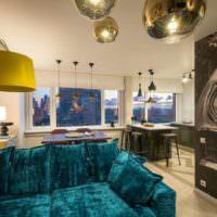 идея необычного дизайна комнаты в стиле поп арт фото
