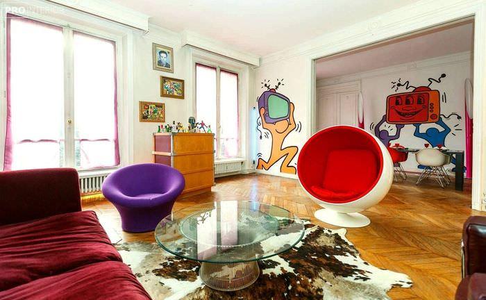 идея необычного дизайна дома в стиле поп арт