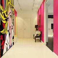 идея яркого интерьера квартиры в стиле поп арт фото