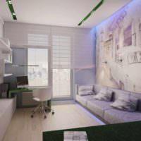 пример яркого интерьера гостиной фото