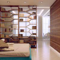 пример необычного стиля гостиной спальни 20 метров картинка
