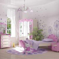 пример красивого дизайна спальной комнаты фото