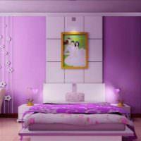 вариант яркого интерьера спальни картинка