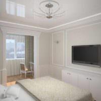 пример яркого проекта интерьера спальной комнаты фото