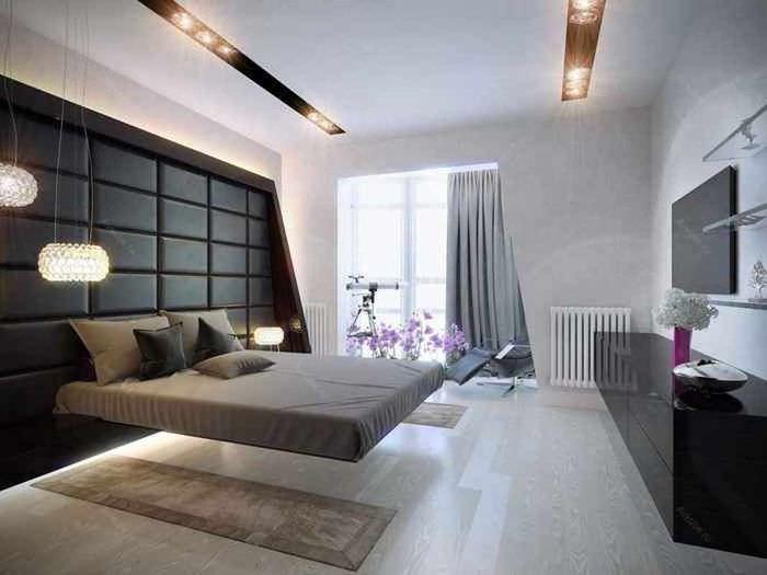 вариант красивого проекта дизайна спальни