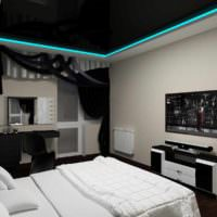 вариант красивого проекта дизайна спальни картинка