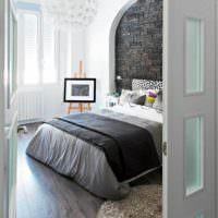 идея красивого дизайна изголовья кровати фото